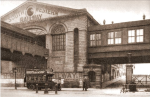 old photo of waterloo station, south london