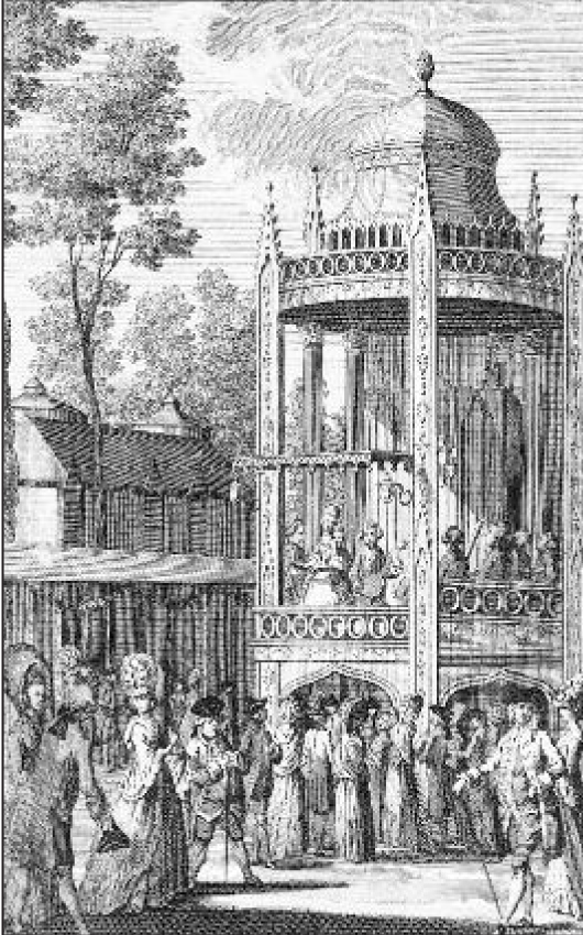 A View of the Orchestra in Vauxhall Garden, 1778 (image by courtesy of David Coke)
