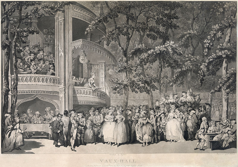 Vaux-Hall, by Thomas Rowlandson, 1784 (© David Coke)