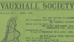 Vauxhall Society newsletters 1969-featured