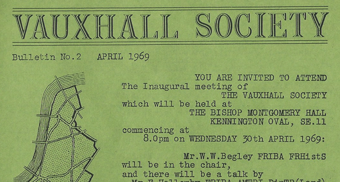 1969: The Vauxhall Society Seven 'resist further intrusions by industry and road traffic'