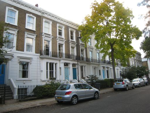 Thorne Road, 2012: Terraced housing on one side