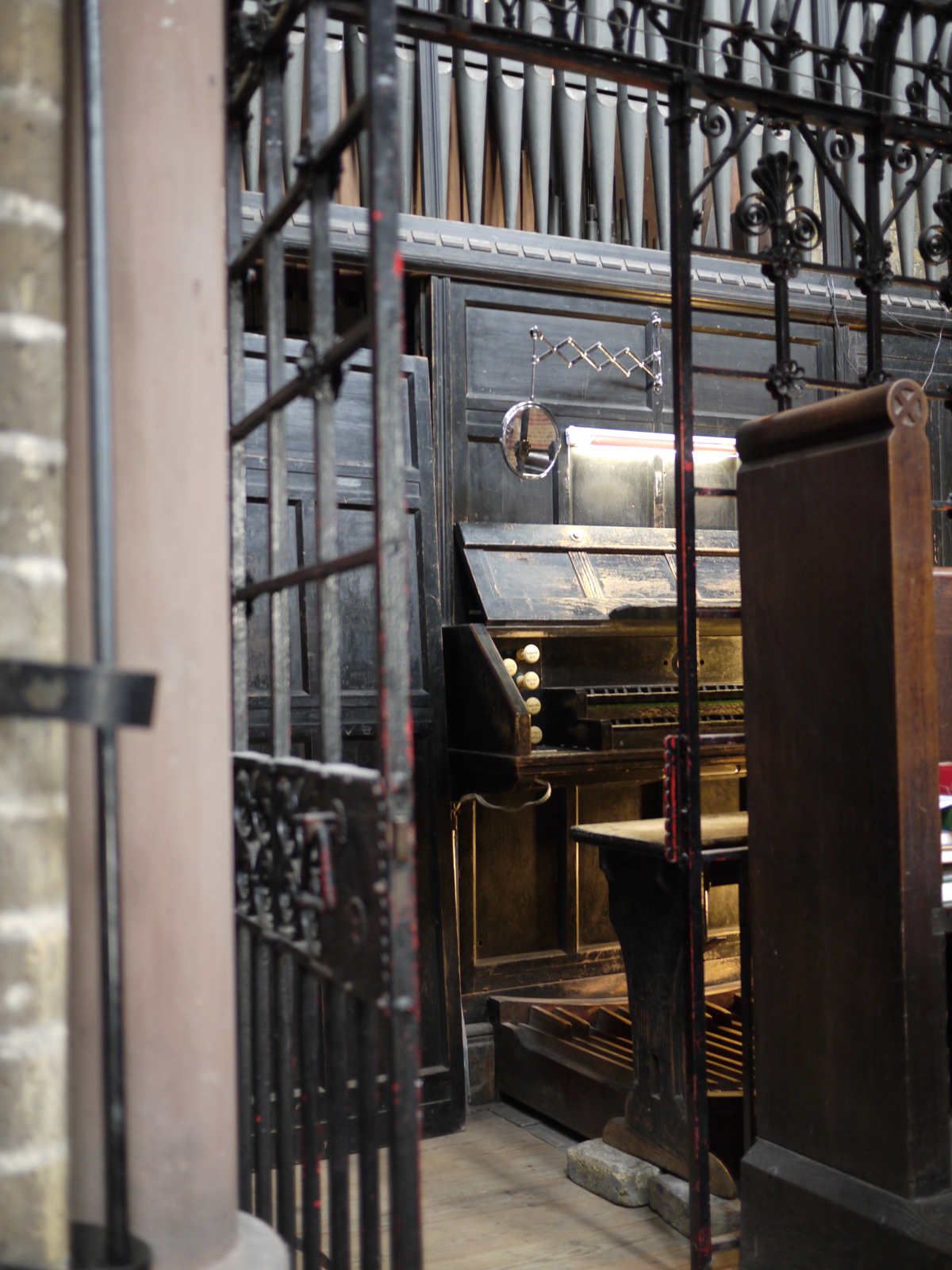 The organ at St Peter's Vauxhall