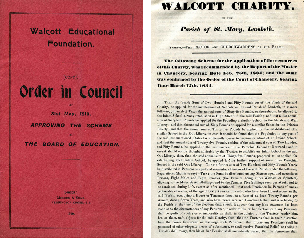Walcot Foundation: 350 years of helping 'the Lambeth poor'