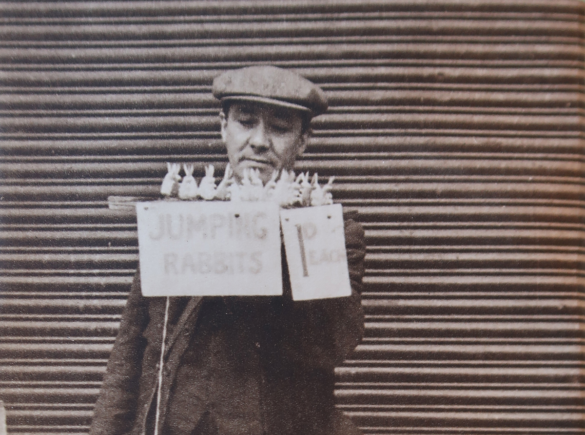 Brixton Market 1936: silk knickers 2½ pence a leg, streaky bacon 3½ pence per pound