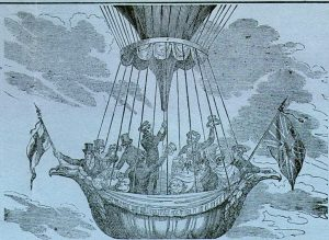 The 1836 'Royal Vauxhall Balloon' ascent that set an eight-decade world distance record for manned flight