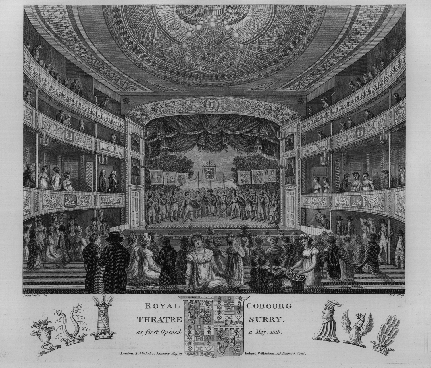 The Old Vic, young Mary Ashford and a brutal killer: the opening night of the Royal Coburg Theatre, 11 May 1818