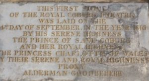 foundation stone at Old Vic theatre, London