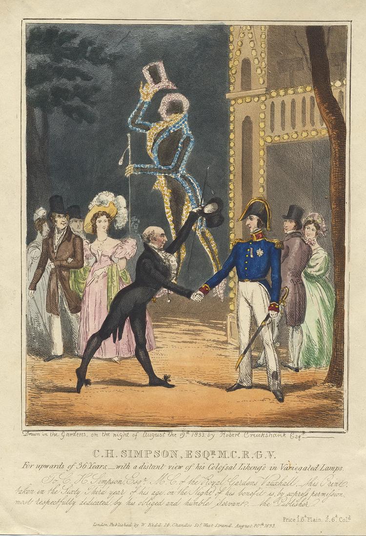 C. H Simpson 1833 Vauxhall Gardens