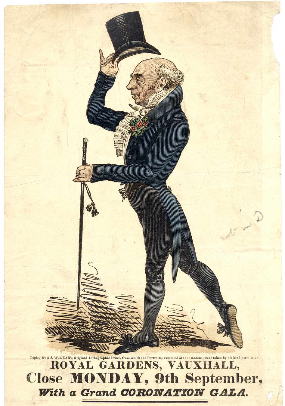 C. H. Simpson, MC of Vauxhall Gardens 1833