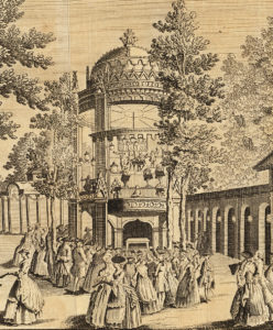 1765 print of the grand walk at vauxhall gardens