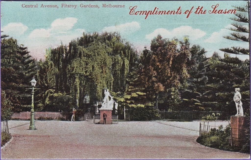 1910 postcard of Fitzroy Gardens, Melbourne