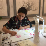 orchid artist Deborah Lambkin at work