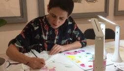 orchid artist Deborah Lambkin at work