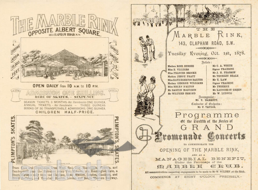 brochure for the marble skating rink