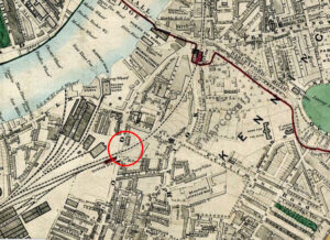 Map of vauxhall from 1872