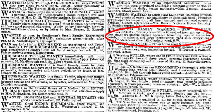 small ads from victorian newspaper