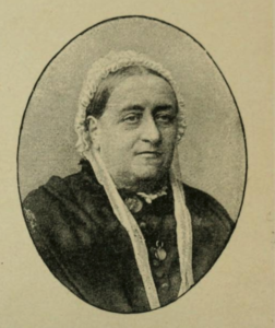 middle-aged victorian lady in cap