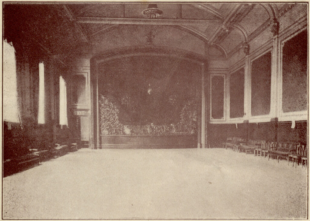 Empty interior of a large Victorian  assembly room