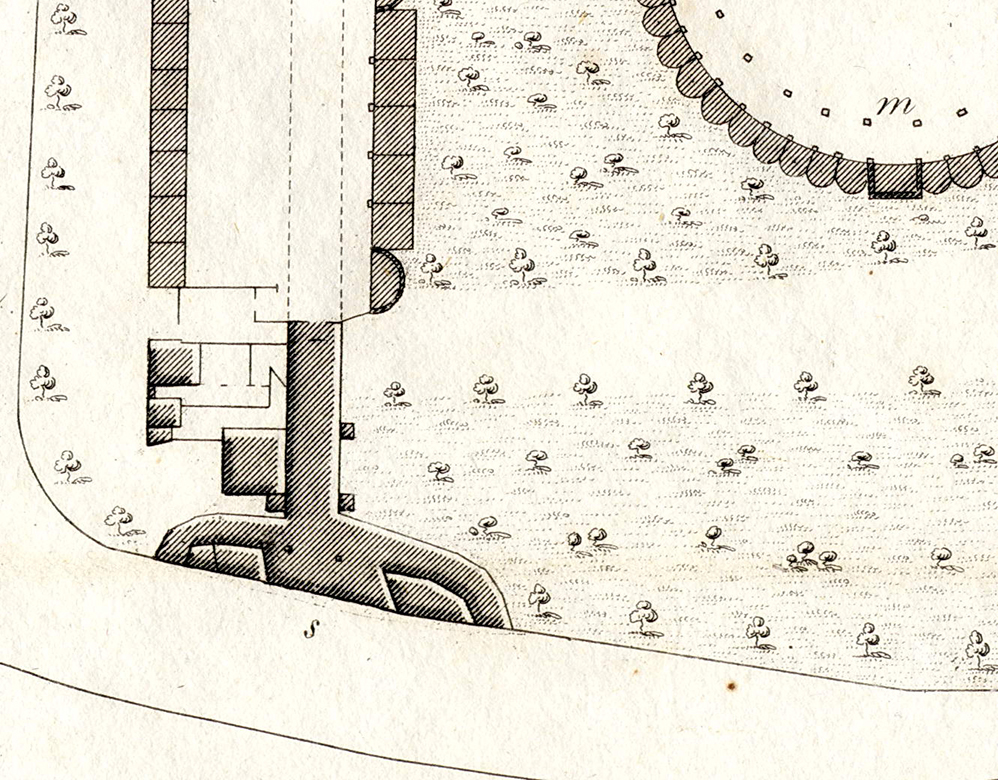 detail of a plan of vauxhall gardens